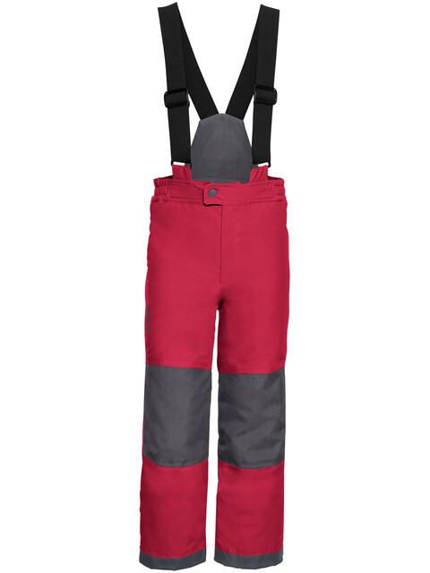 VAUDE Snow Cup III lange broek Kinderen grijs/rood